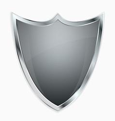 Empty shield vector image vector image
