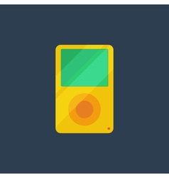Flat media player icon vector image