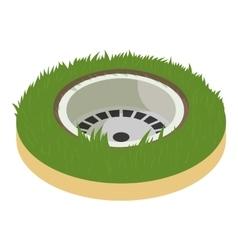 Golf hole icon cartoon style vector image
