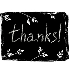 Hand drawn thank you card vector