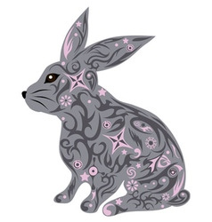 hare gray vector image