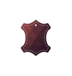 Leather sign for the label vector