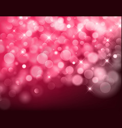 Light red bokeh background made from white lights vector