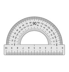 Measuring instrument is a protractor vector