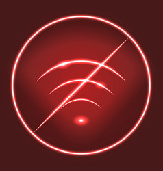 neon modern wifi prohibition sign eps10 vector image