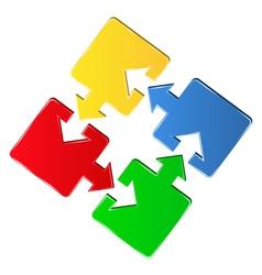 puzzle square vector image
