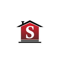 real estate initial s vector image
