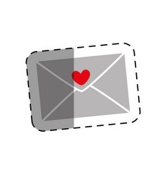 romantic envelope isolated icon vector image