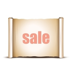 Sale Banner on a white background vector image vector image