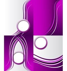 Set of purple backgrounds design frame line shadow vector image vector image