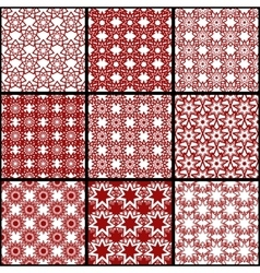 Set of seamless patterns of seven-pointed stars vector image vector image