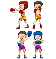 Simple sketches of boxers vector