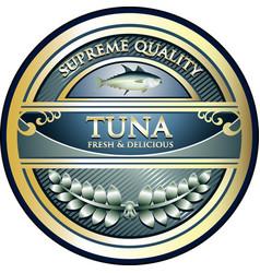 Tuna gold icon vector