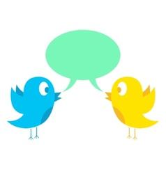 two birds tweeting vector image