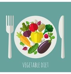 Vegetable menu banner background design with vector