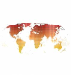 world map of squares vector image vector image