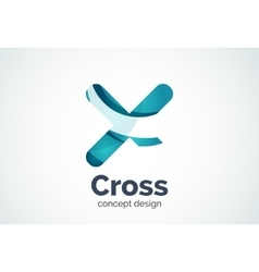 X cross logo template rotated plus medical or vector