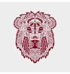 Zentangle stylized lion head vector image
