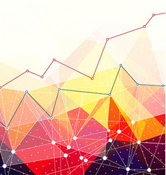 Abstract colorful triangles background business vector