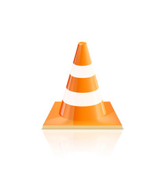 Road cones icons on a white background vector