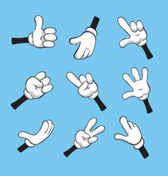 cartoon various hands vector image