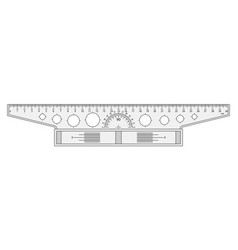 the measuring tool a t-square vector image