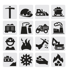 Coal icon vector