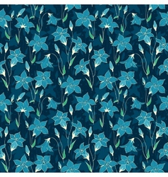 Beautiful wild bluebell flowers seamless pattern 5 vector