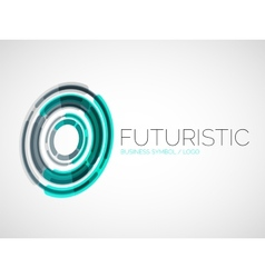 Futuristic circle business logo design vector