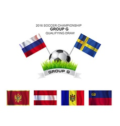 2016 soccer championship group g qualifying draw vector