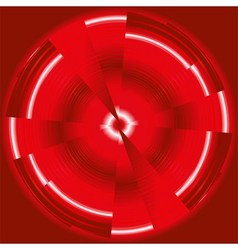 Abstract technology circles dark red backgr vector