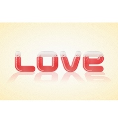 Love poster over nice background vector