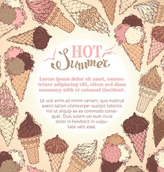 Summer ice-cream background vector image