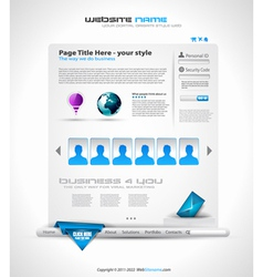Hightech website vector