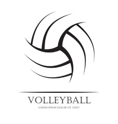Volleyball background ball vector