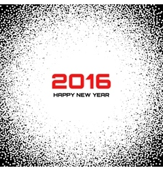 Black - white new year 2016 snow flake background vector