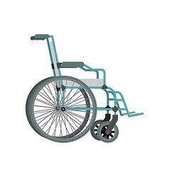 Wheelchair on white background means of vector