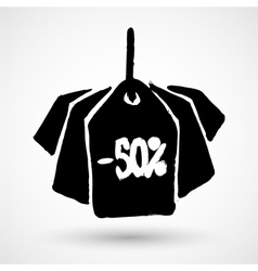 Black friday sales grunge tag vector
