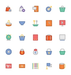 Shopping Icons 7 vector image