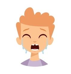 Crying boy vector image