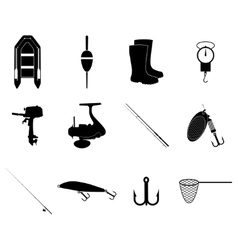 Fishing icons set concept for vector