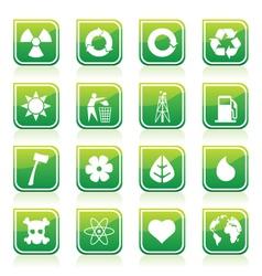 environmental signs vector image