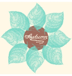 Autumn abstract floral leaf background vector image