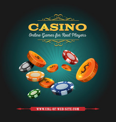 casino and gambling background vector image