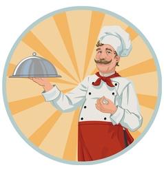 Chef in a retro style vector image vector image