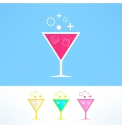 cocktail symbol made in modern flat design vector image vector image