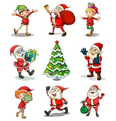 Different christmas templates vector image vector image