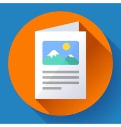 Flat brochure icon vector