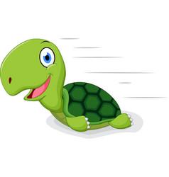 fun turtle cartoon vector image vector image