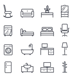 Furniture icon bold stroke vector